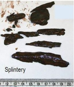 Splintery cavings